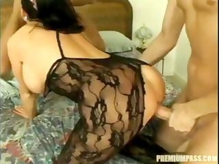 breasty dark brown gangbang on bed