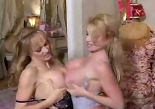 3 breasty golden-haired lesbian moms