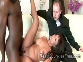 perv enjoys watching his big boobed mommy fucked