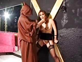 bondage aged bondman in torture