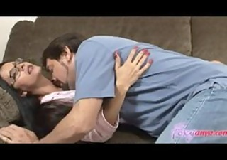 sleeping foxy anya gets licked and drilled