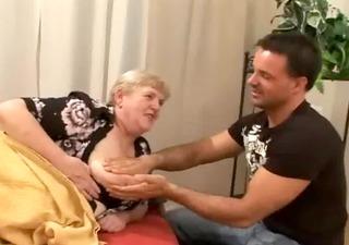 copulate a chunky old shaggy granny