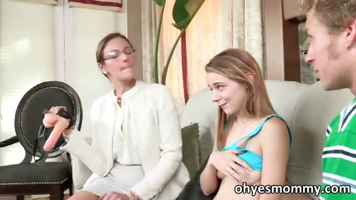 very hot skinny stepmom teacher her stepdaughter