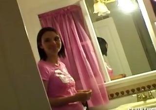 handjob in the bathroom