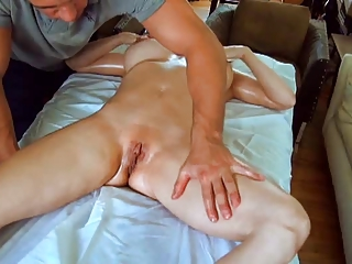sexy mama massaged then pounded