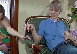 russian milf,granny,mature and youthful boy #