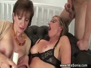 busty mother i in threesome with spunk fountain