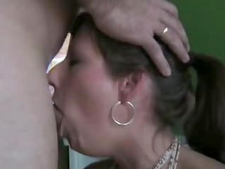wonderful wife deepthroats and swallows the full