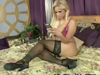 horny blond milf with large pantoons bonks the