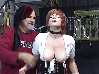 hot, mature redhead gets her cunt toyed with,