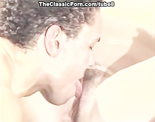 retro young good looking man get with milf
