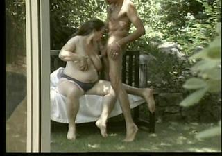 pregnant german milf - outdoors anal