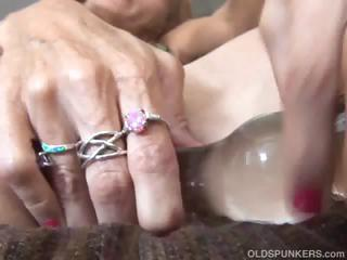 mature redhead fucks her bawdy cleft and anal