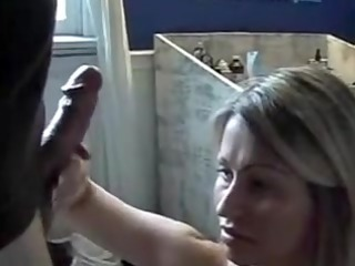 blond wife gets a homemade facial