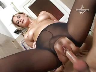 mature fun in pantyhose